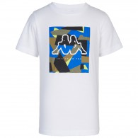 Cated - White T-shirt for Boys